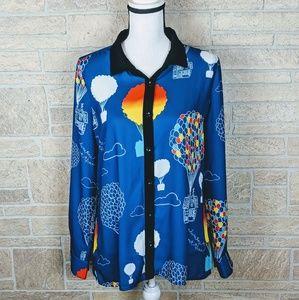 RARE UP Movie Disney Pixar Button Shirt Multicolor